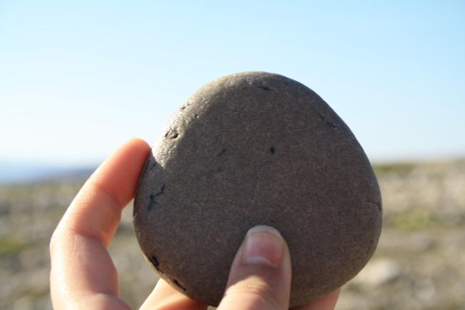 Kivien kanssa on kuten sanojen, välillä pitää tarkastella läheltä, jotta näkee kauneuden tai mielenkiintoisen muodon.